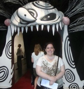 Nancy at the Tim Burton exhibit in L.A.